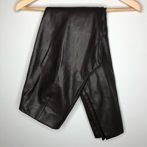 H&M Brown Faux Leather Skinny Pants Size 4